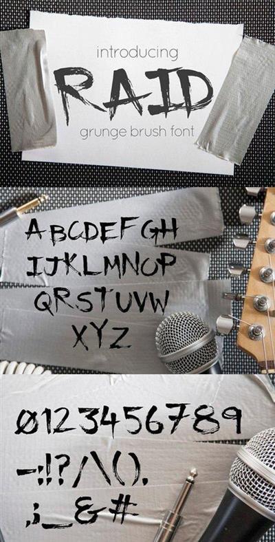 Raid - Grunge brush font