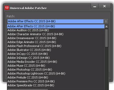 Universal Adobe Patcher v1.5 (Activator Adobe CC 2015)