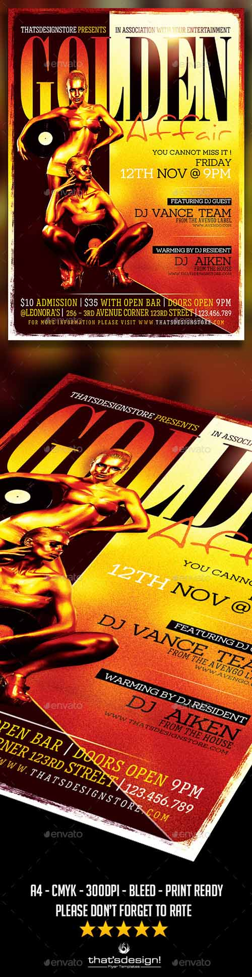 Golden affair Flyer Template 11994000