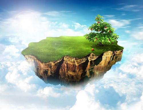 Земля, глобус, облака, экология