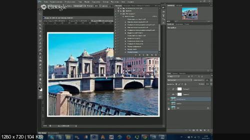 Обработка фотографий в Фотошопе с помощью экшенов (2015)