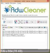 AdwCleaner 5.007 - уничтожение нежелательных панелей инструментов в обозревателях интернета